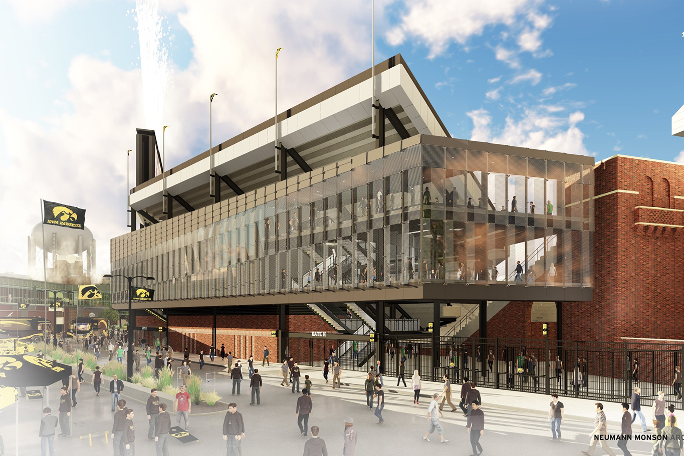 University Of Iowa Kinnick Stadium North End Zone Renovation