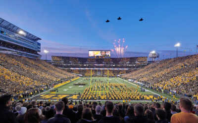 Kinnick Stadium North End Zone