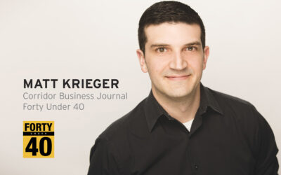 Krieger honored as Forty under 40