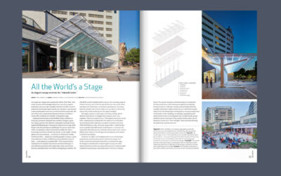 Weatherdance Fountain Stage Canopy featured in Iowa Architect Magazine